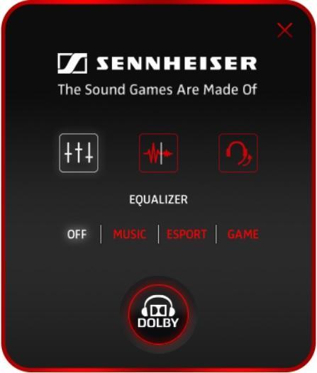 Настройки эквалайзера в приложении Sennheiser Audio