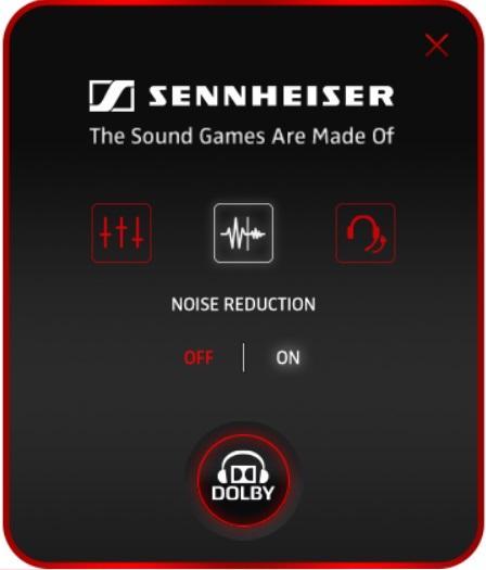 Шумоподавление в приложении Sennheiser Audio