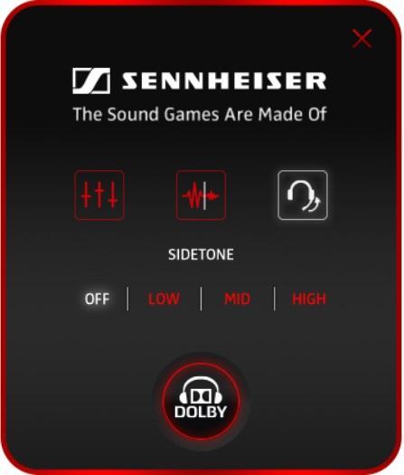 Функция Sidetone в приложении Sennheiser Audio