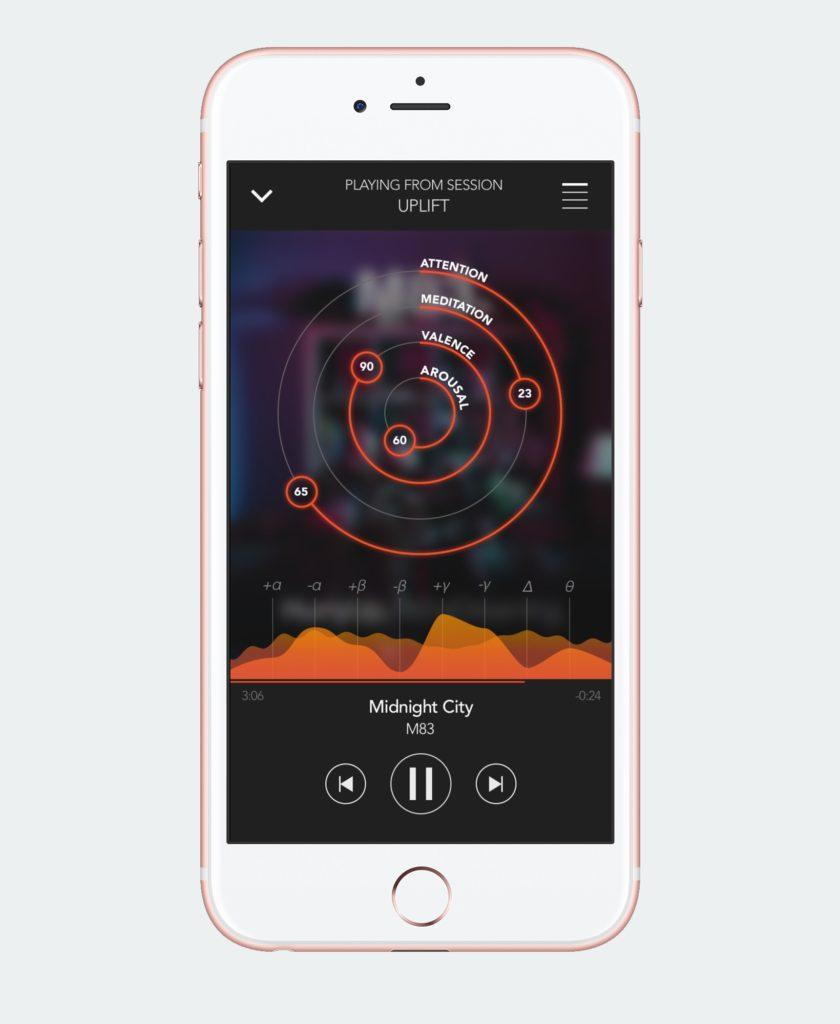 Мобильное приложение для наушников анализирующих мозговые волны