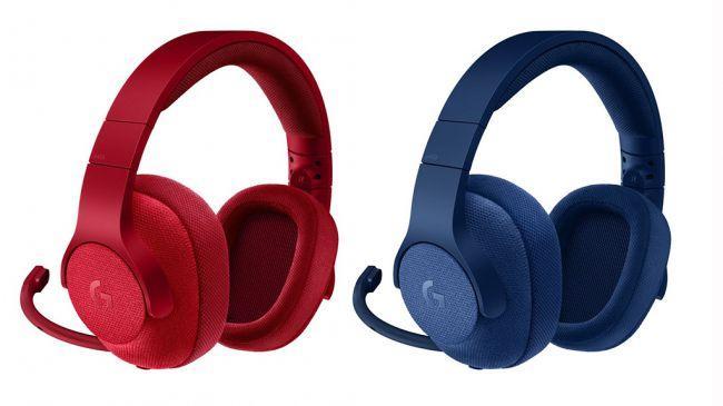 Logitech G433 в красном и голубом цвете