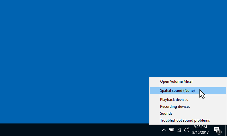 Настройка Dolby Atmos в Windows 10