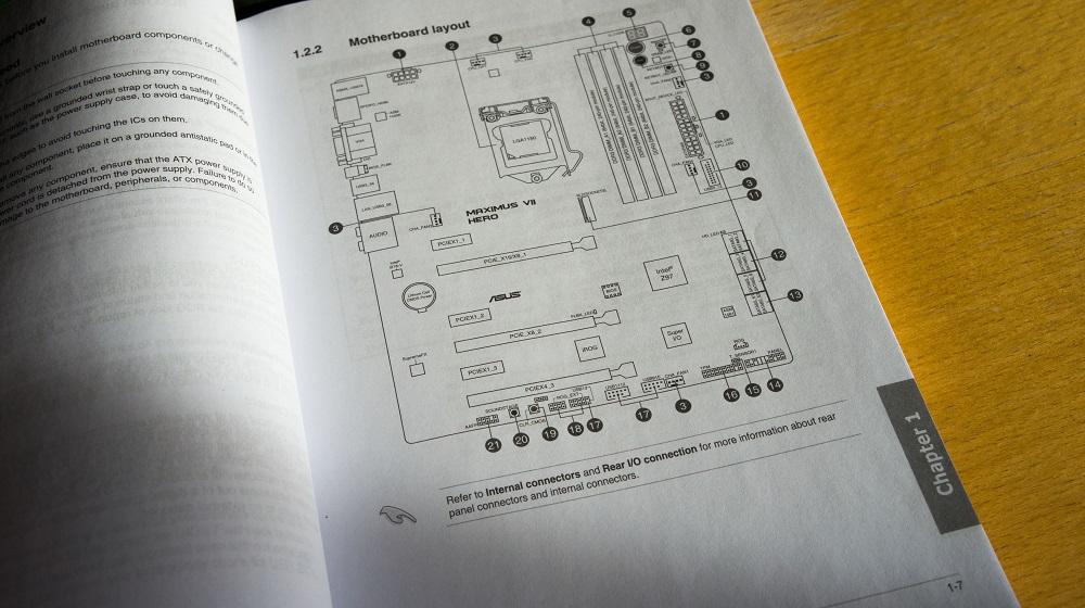 Инструкция к материнской плате компьютера