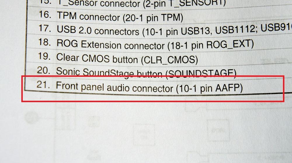 Наименование разъёма на материнской плате для подключения наушников и микрофонов с передней панели компьютера