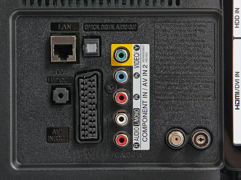 Аудио гнёзда на телевизоре