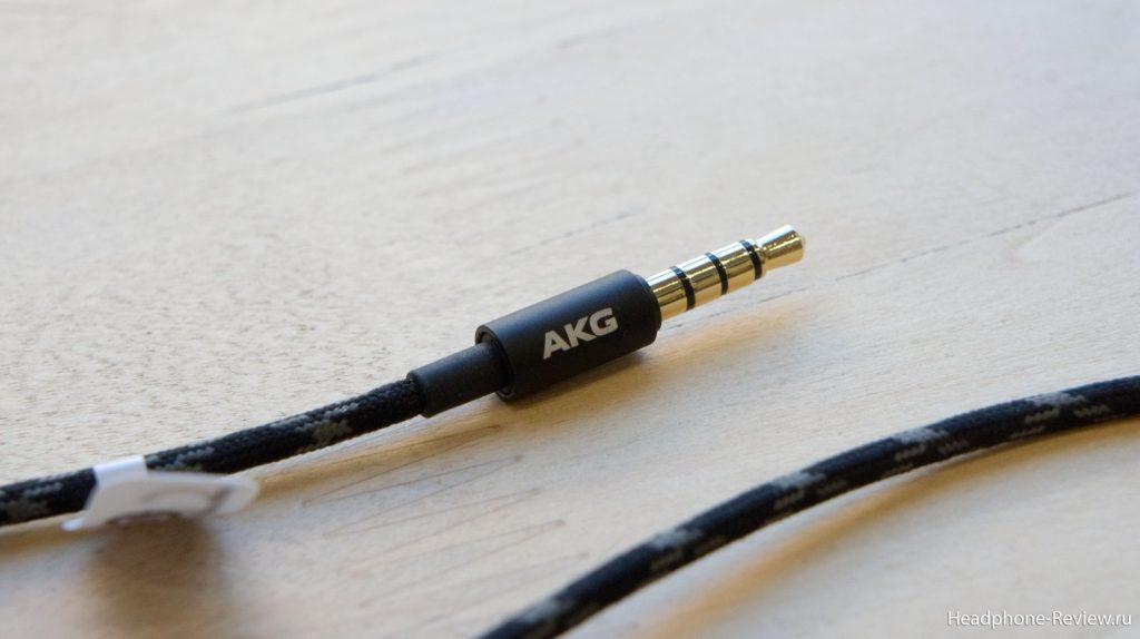 Съёмный комплектный кабель от внутриканальных гибридных наушников AKG N30