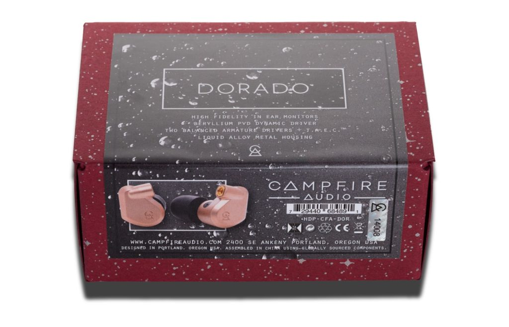 Упаковка наушников Campfire Dorado