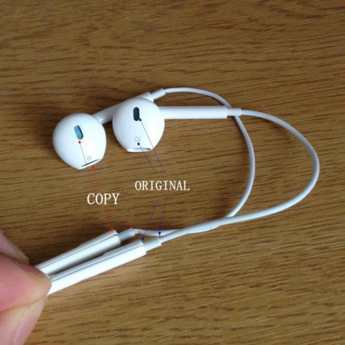 Разница между оригинальной металлической защитной сеткой EarPods и подделкой