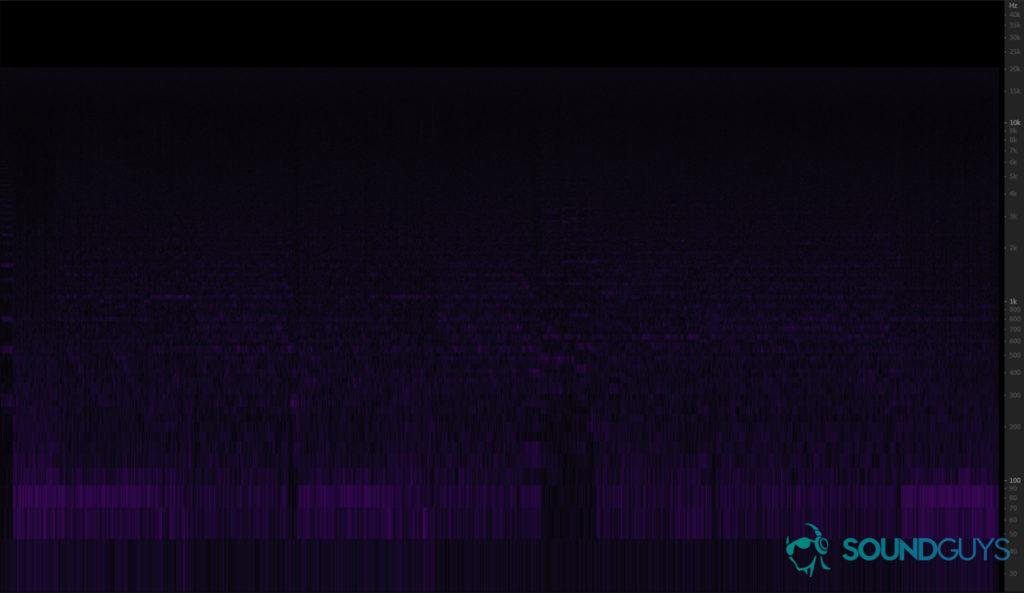 Спектрограмма разности звучания музыкального материала 24/96 и 16/44.1