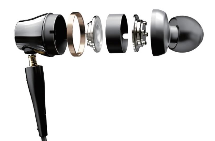 Схема установки драйвера в наушниках Audio-Technica-CKR100is