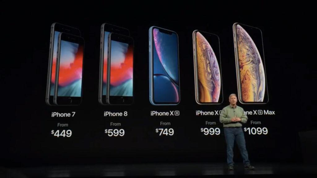 Новая линейка телефонов iPhone XS