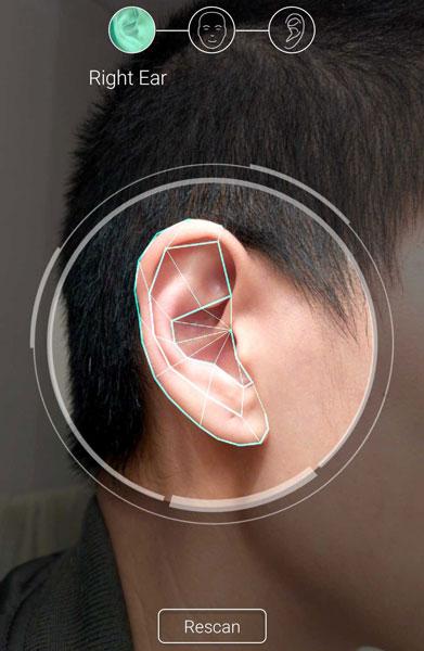 Фото ушей и головы для приложения Creative Super X-Fi