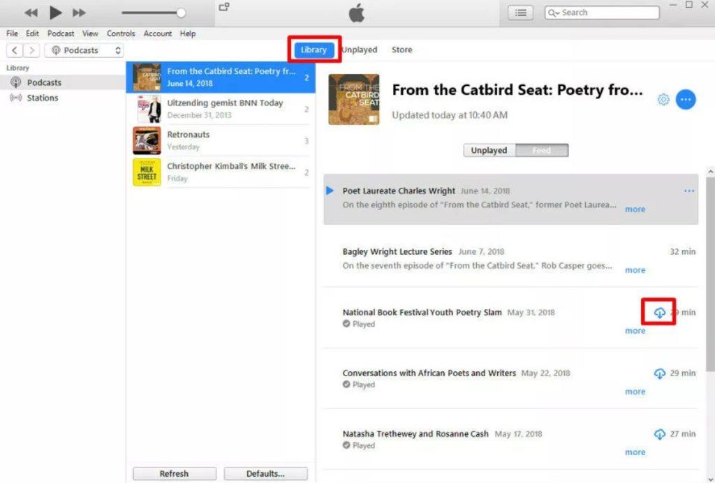 Перенос файлов подкастов из iTunes в Android