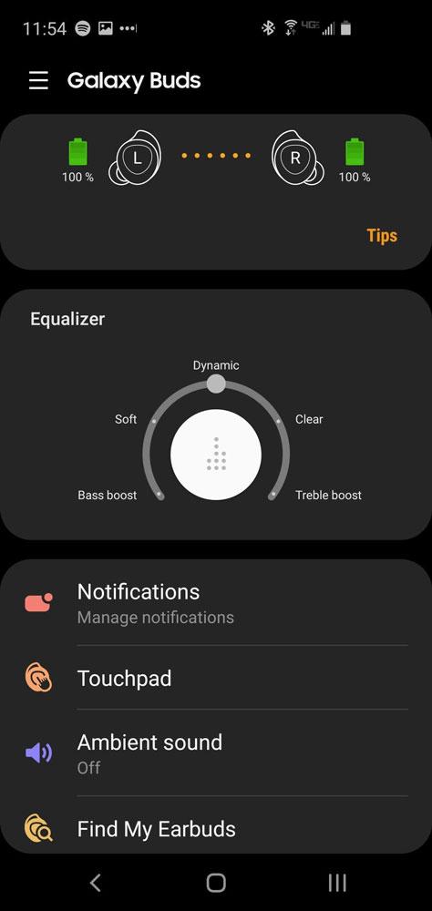 Приложение Wearable App для работы с наушниками Samsung Galaxy Buds